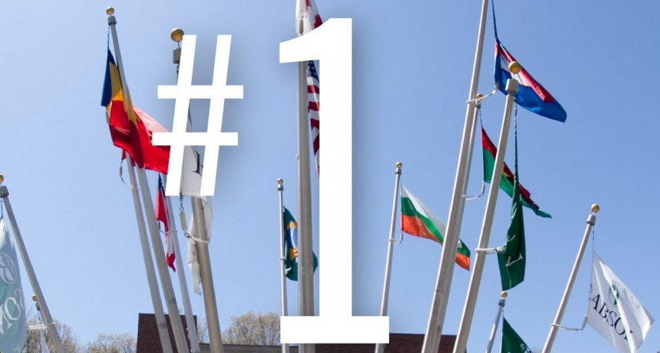 babson is the no. 1 college for international students